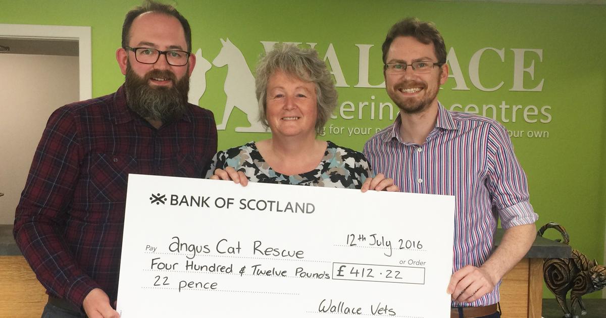 £412 raised for Angus Cat Rescue